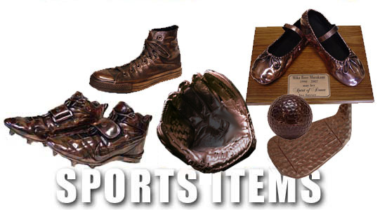 Bronze Baby Shoes Royalty Free Stock Images
